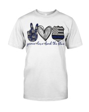 Peace Love Back The Blue Classic T-Shirt front