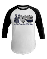 Peace Love Back The Blue Baseball Tee thumbnail