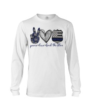 Peace Love Back The Blue Long Sleeve Tee thumbnail