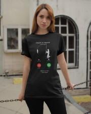 J ETAIS SUR MON AUTRE LINGNE Classic T-Shirt apparel-classic-tshirt-lifestyle-19