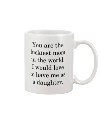Family Gift The Luckiest Mom For Mothers
