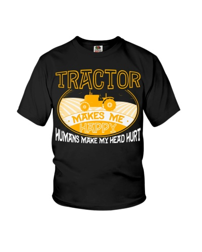 Farmer Shirt Tractor Makes Me Happy