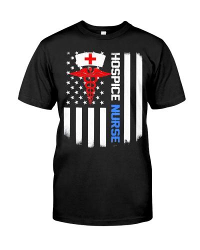 Hospice Nurse Us Flag