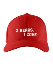 two bears one cave hat Embroidered Hat front