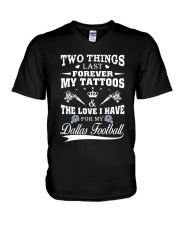 TATTOOS AND DALLAS FOOTBALL V-Neck T-Shirt tile