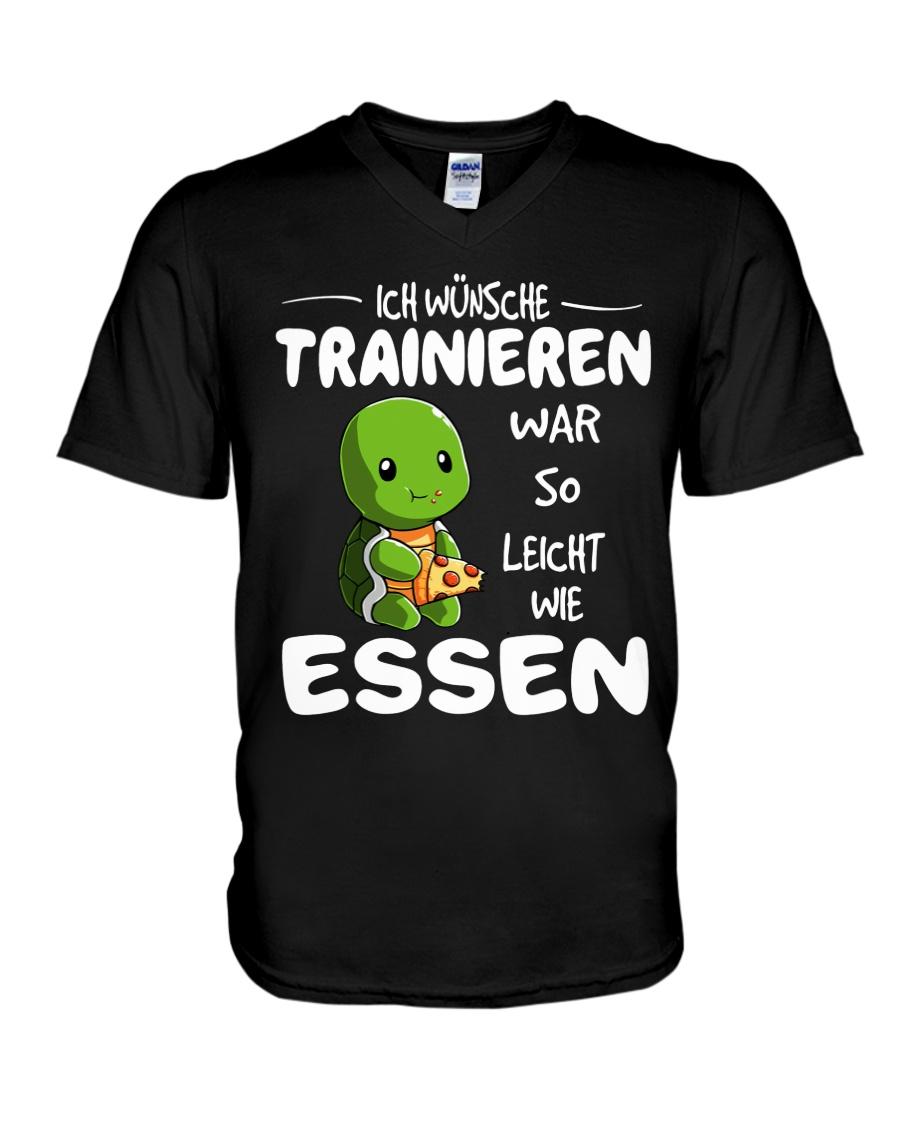 ICH WUNSCHE V-Neck T-Shirt