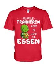 ICH WUNSCHE V-Neck T-Shirt front