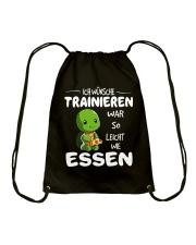 ICH WUNSCHE Drawstring Bag front