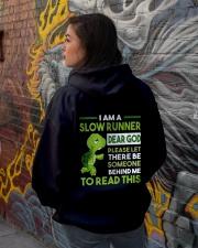 I AM SLOW RUNNER - Legging Hooded Sweatshirt lifestyle-unisex-hoodie-back-1