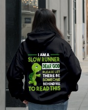 I AM SLOW RUNNER - Legging Hooded Sweatshirt lifestyle-unisex-hoodie-back-2
