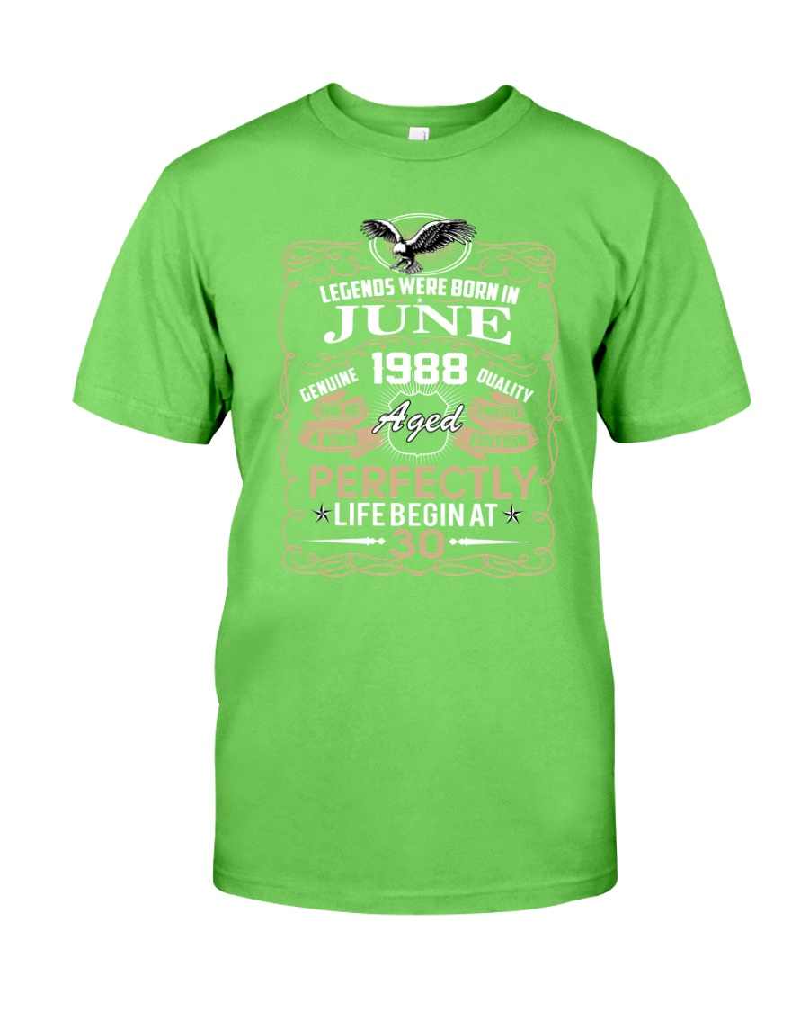 30th Birthday Gift - Legend were born in JUNE Classic T-Shirt