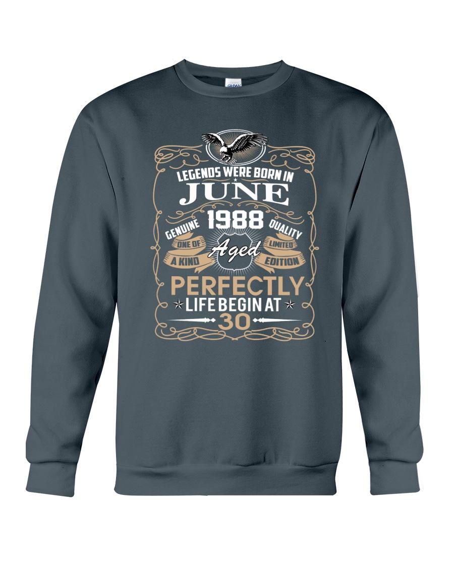 30th Birthday Gift - Legend were born in JUNE Crewneck Sweatshirt