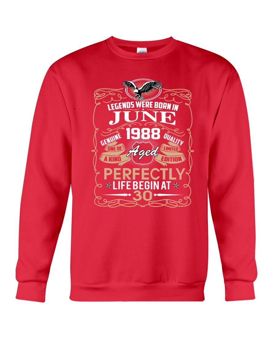 30th Birthday Gift - Legend were born in JUNE Crewneck Sweatshirt
