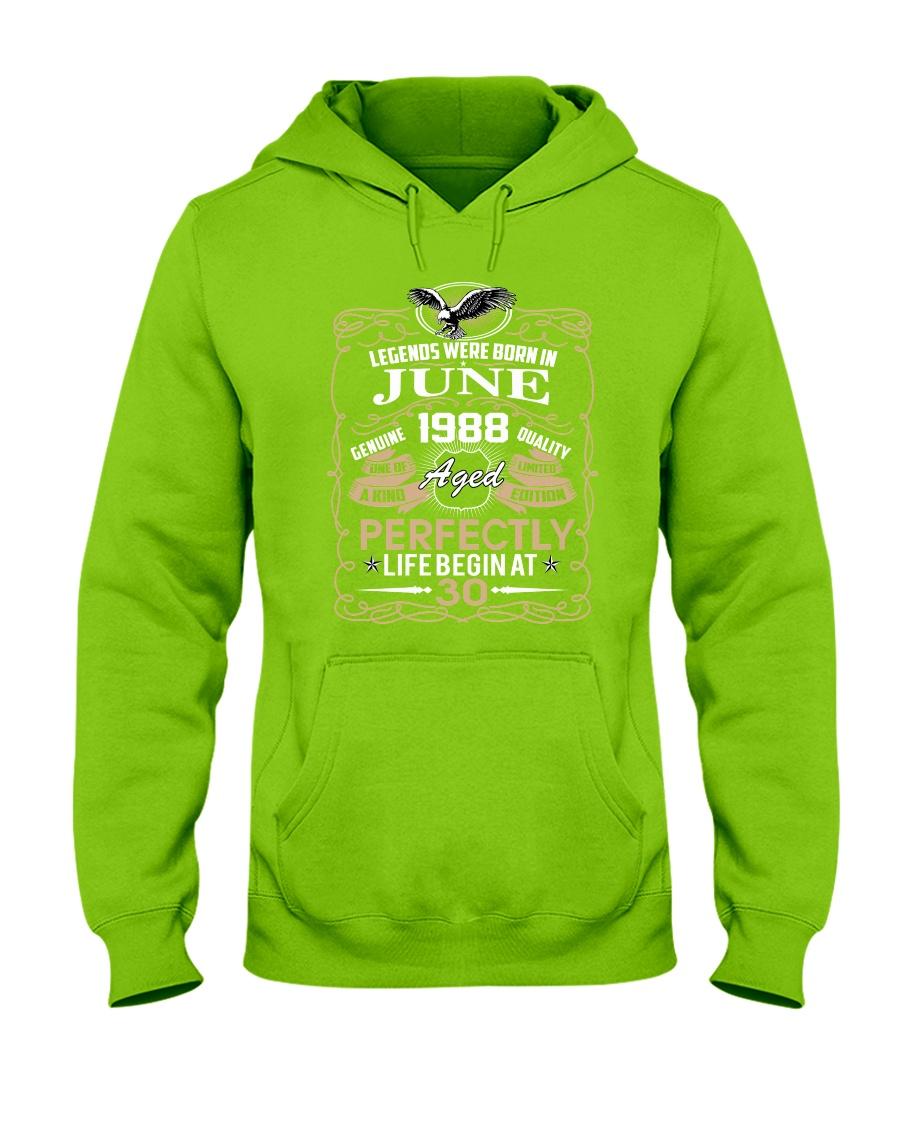 30th Birthday Gift - Legend were born in JUNE Hooded Sweatshirt