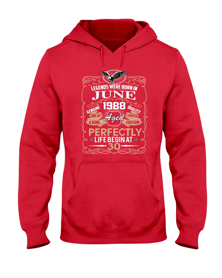 30th Birthday Gift - Legend were born in JUNE Hooded Sweatshirt
