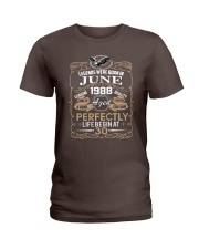 30th Birthday Gift - Legend were born in JUNE Ladies T-Shirt front