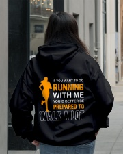 YOU'D BETTER BE PREPAERED TO WALK A LOT Hooded Sweatshirt lifestyle-unisex-hoodie-back-2