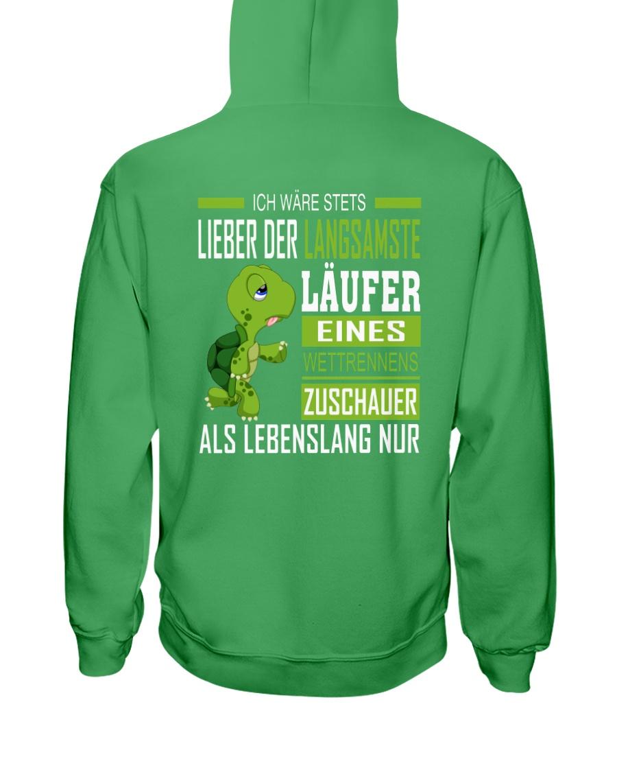LIEBER DER LANGSAMSTE LAUFER Hooded Sweatshirt