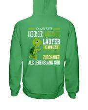 LIEBER DER LANGSAMSTE LAUFER Hooded Sweatshirt back