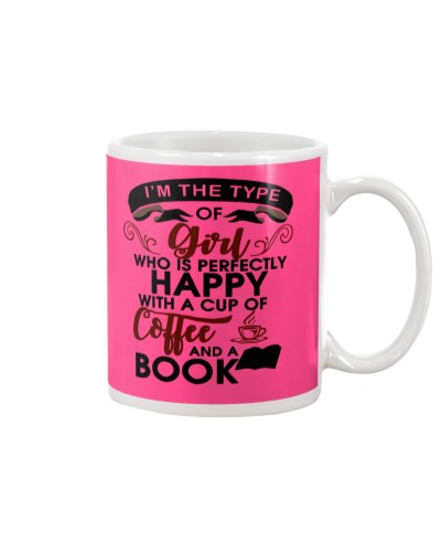 Happy with Coffee and Book