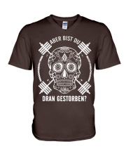 ABER BIST DU DRAN GESTORBEN V-Neck T-Shirt front