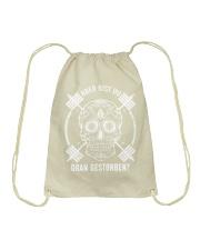 ABER BIST DU DRAN GESTORBEN Drawstring Bag front