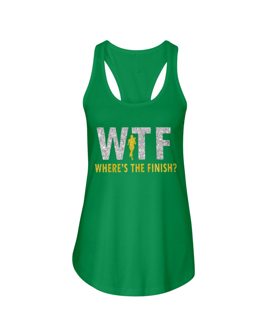 WHERE'S THE FINISH Ladies Flowy Tank