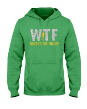 WHERE'S THE FINISH Hooded Sweatshirt front