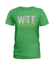 WHERE'S THE FINISH Ladies T-Shirt front