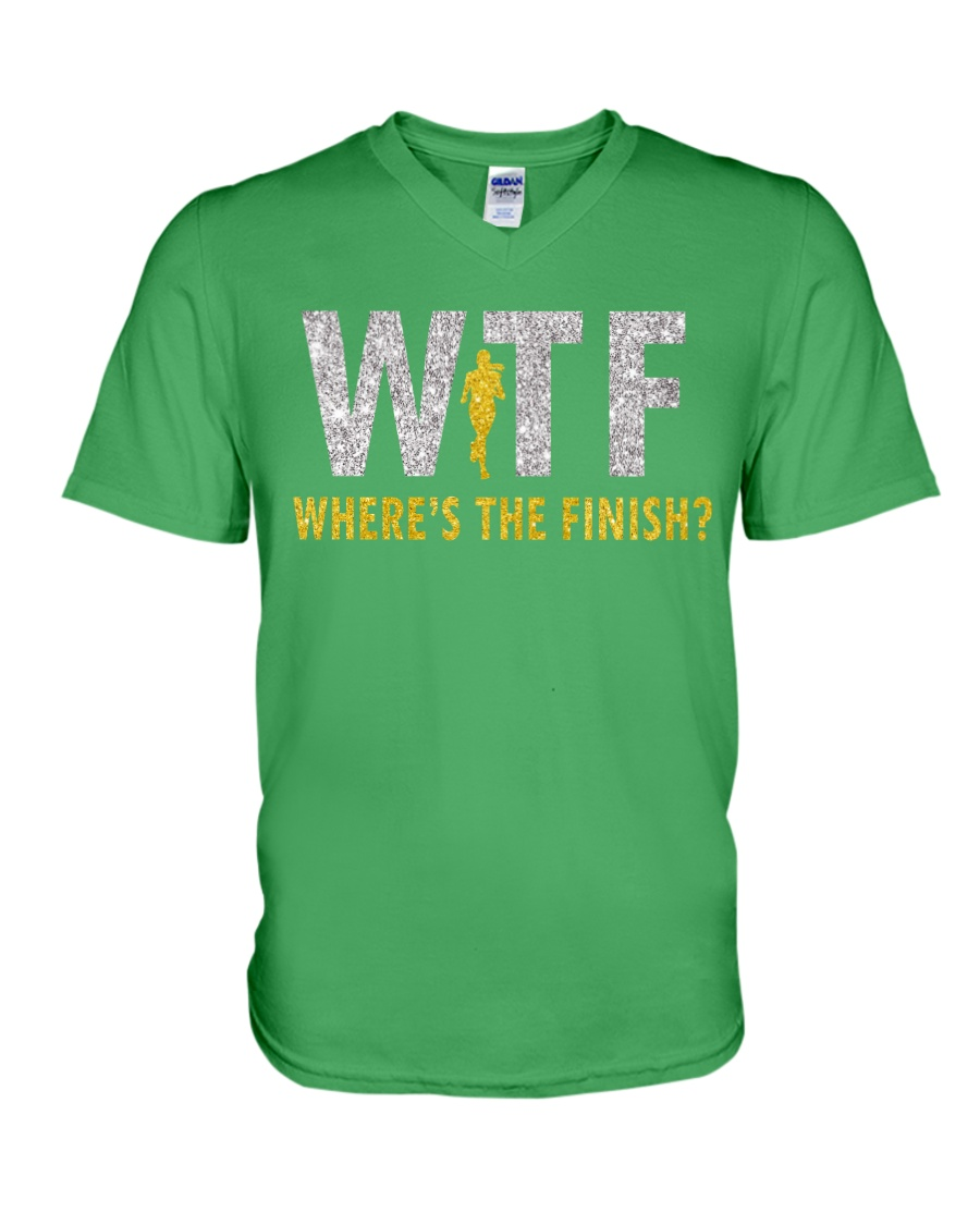WHERE'S THE FINISH V-Neck T-Shirt