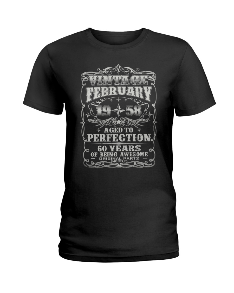 Born in February 1958 Ladies T-Shirt