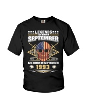 Born in SEPTEMBER 1993 Youth T-Shirt thumbnail