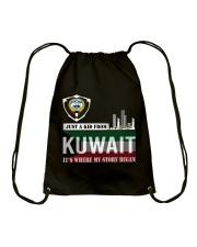 Kuwait love Drawstring Bag thumbnail