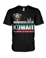 Kuwait love V-Neck T-Shirt thumbnail