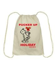 Holiday Kisses Drawstring Bag thumbnail