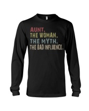 Aunt The Woman The Myth The Bad Influence Unisex Black T-Shirt S-6XL