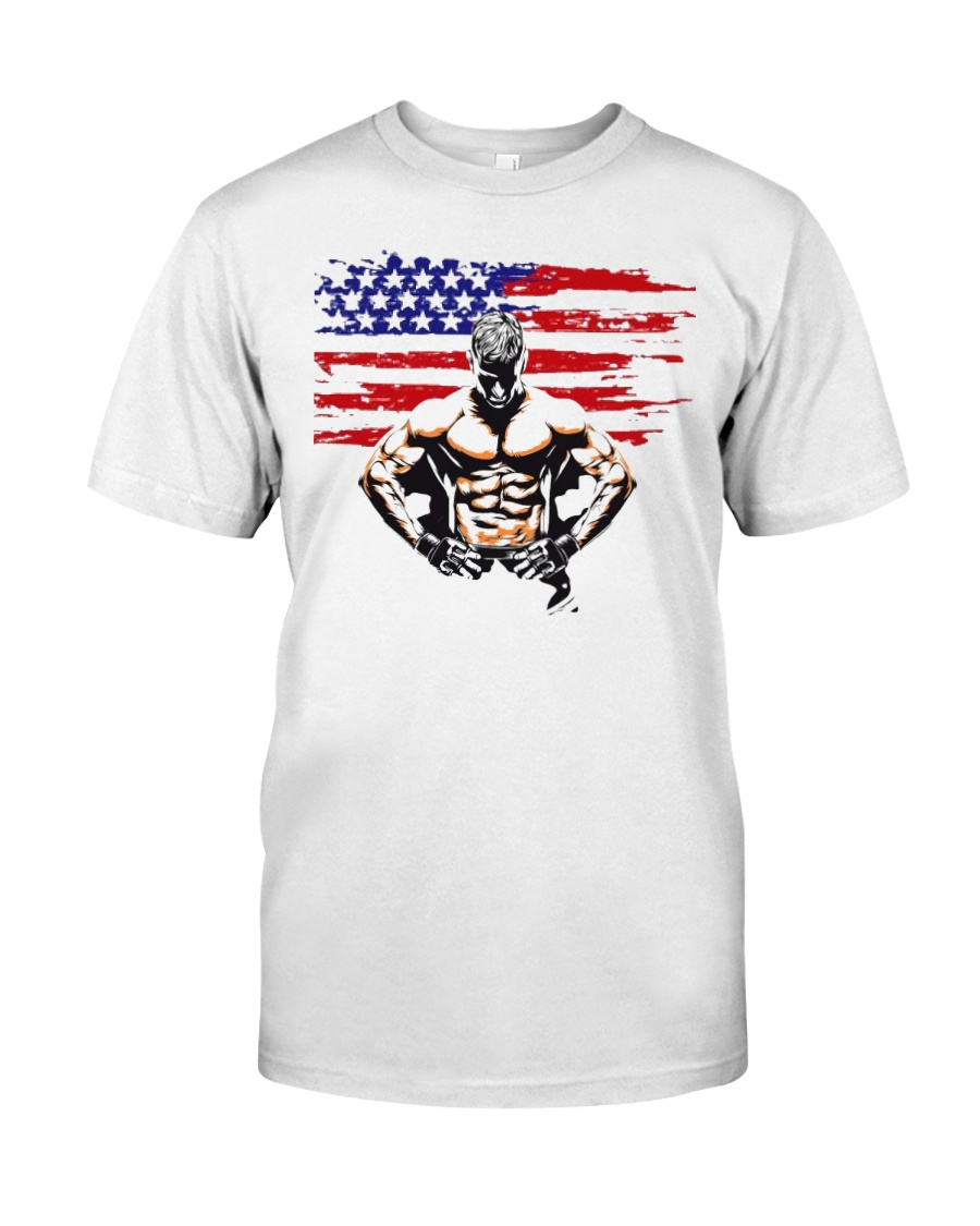 USA Alpha Fighter Premium Fit Mens Tee