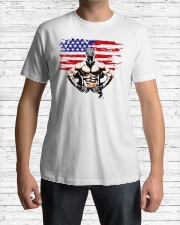 USA Alpha Fighter Premium Fit Mens Tee lifestyle-mens-crewneck-front-1