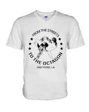From The Streets To The Octagon  V-Neck T-Shirt thumbnail