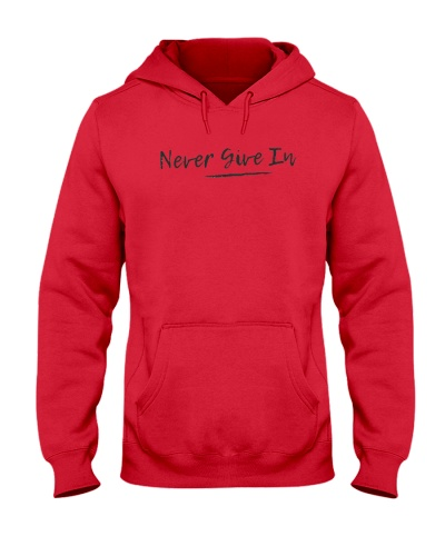 never give in T shirt