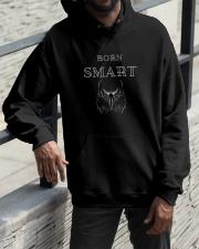 Born Smart T shirt Hooded Sweatshirt apparel-hooded-sweatshirt-lifestyle-front-11