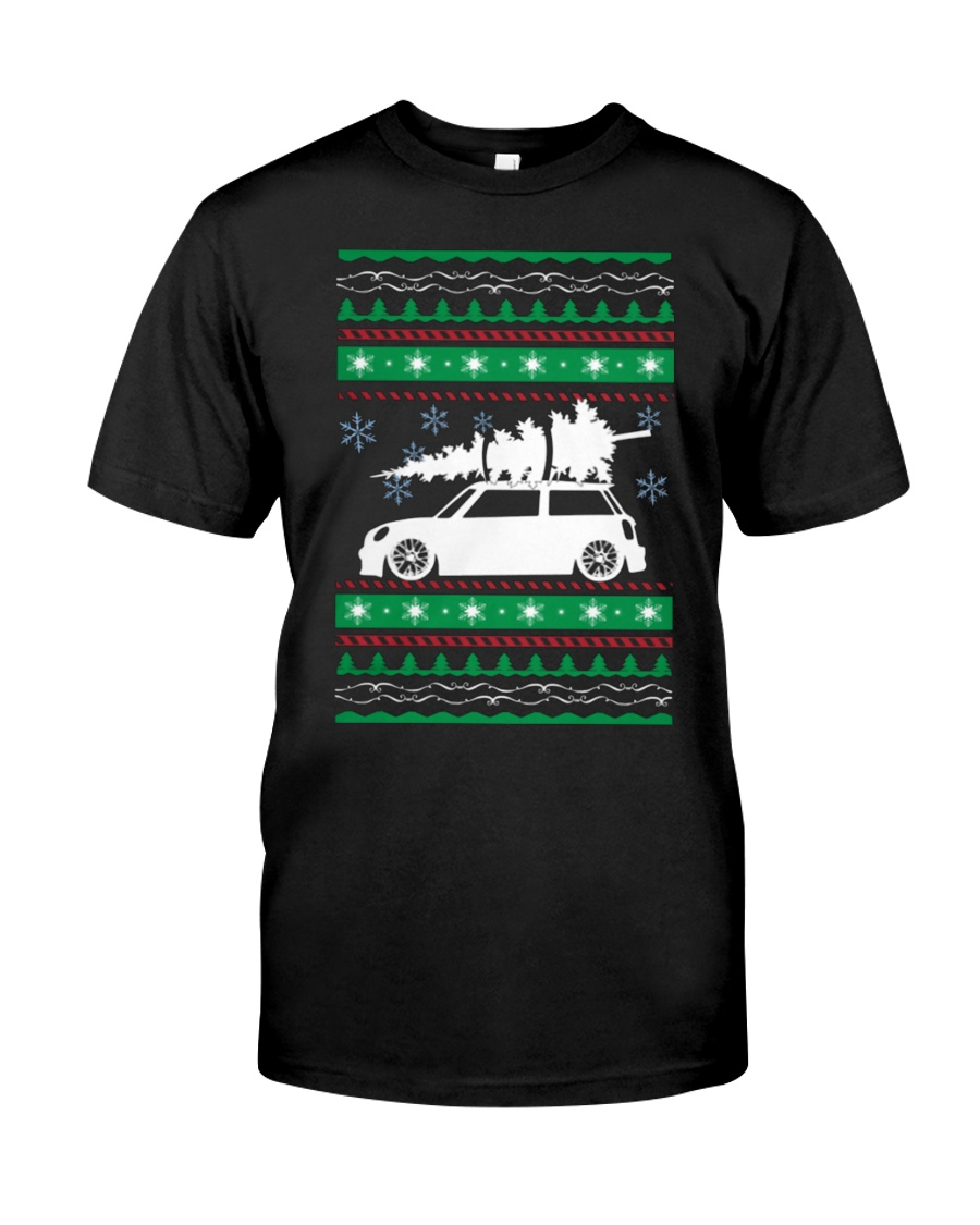 Christmas Tree Car Ugly Xmas Sweater Classic T-Shirt
