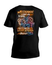 Mechanic I Can Fix What Stupid Does V-Neck T-Shirt tile