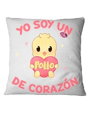 Soy un POLLO de corazon Square Pillowcase thumbnail