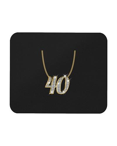 40 Birthday Necklace Gold Queen Princess Present
