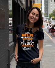 ONLY THE BEST ARE BORN IN MARCH Ladies T-Shirt lifestyle-women-crewneck-front-5