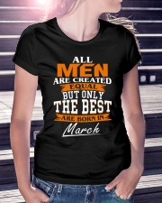 ONLY THE BEST ARE BORN IN MARCH Ladies T-Shirt lifestyle-women-crewneck-front-7