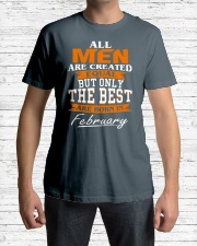 ONLY THE BEST ARE BORN IN FEBRUARY Classic T-Shirt lifestyle-mens-crewneck-front-1