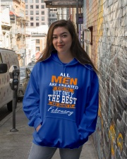 ONLY THE BEST ARE BORN IN FEBRUARY Hooded Sweatshirt lifestyle-unisex-hoodie-front-1