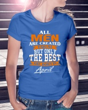 ONLY THE BEST ARE BORN IN APRIL Ladies T-Shirt lifestyle-women-crewneck-front-7
